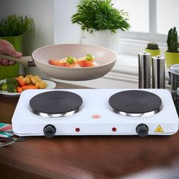 Kitchen Electric Double Burner Hot Plate Cast Iron Portable