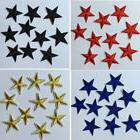 10x Glitter Star Embroidery Sew Iron On Patch Badge Clothes
