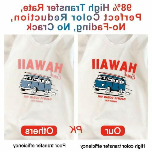110 Sheets Sublimation Paper Iron On Heat Transfer for Inkjet T-Shirt Mug