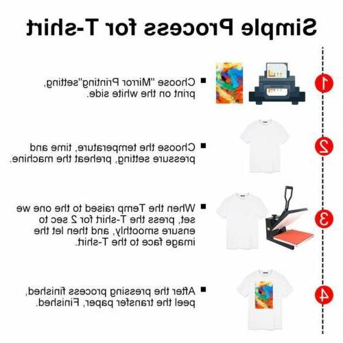 110 Sheets Sublimation Heat for Inkjet T-Shirt Mug