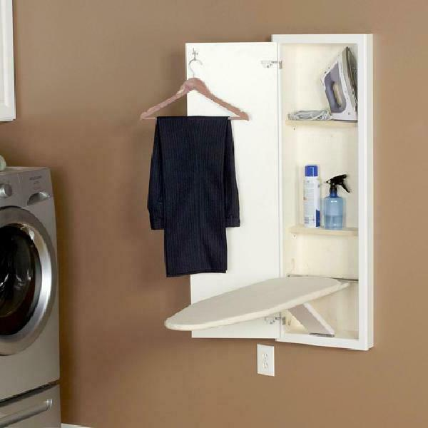 Household Essentials 18100-1 Built In-Wall Ironing With Cabinet