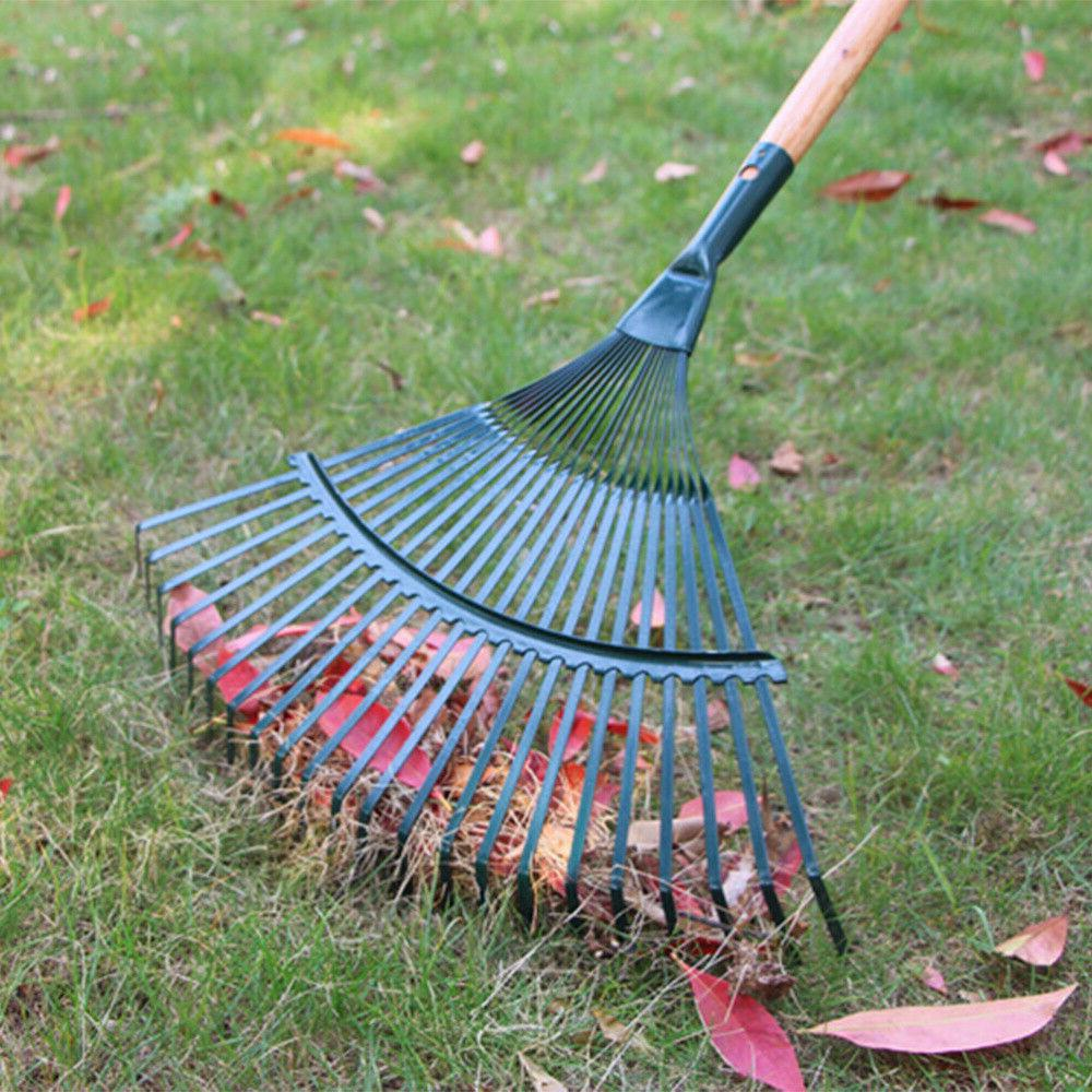 1pc leaf rake durable cleaning iron wire