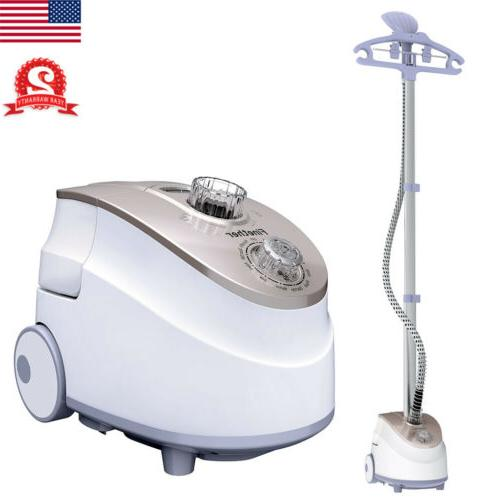 2-in-1 1800W Portable Stand Garment Steamer Clothes Fabric S