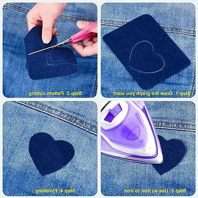 20pcs DIY on Fabric Patches Clothing 5 Colors