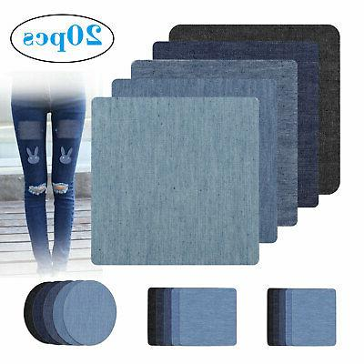 20pcs diy design iron on denim fabric