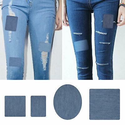 20pcs DIY on Denim Fabric for Clothing Jeans Repair Kit 5 Colors