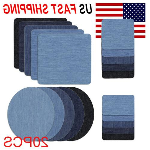 5 Colors on Denim Fabric for Clothing Kit(20pcs )