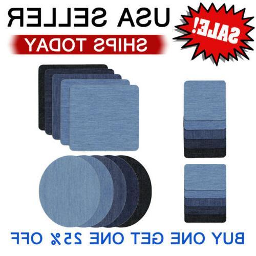 5 colors diy iron on denim fabric