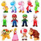 "5""  Kids Super Mario Bros Brothers Princess Luigi PVC Action"