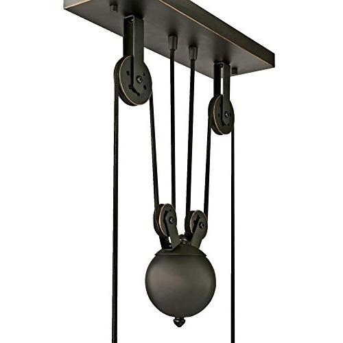 Westinghouse 6332500 Iron Three-Light Island Pendant, Oil with Highlights Bronze