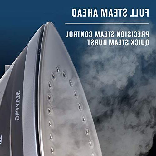 Maytag Heat Steam Iron Vertical Steamer with Sole Self Function