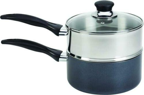 T-fal B1399663 Specialty Stainless Steel Double Boiler with