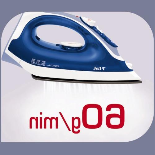 T-fal Prima Iron Soleplate with Anti-Drip Auto-Off, 1400-Watt,