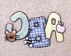 ABC Apple/Bee/Kitty Cat Gingham/Baby/Letters Iron on Appliqu