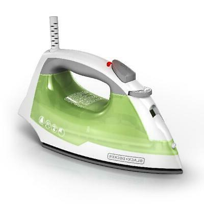 New BLACK+DECKER Easy Steam Anti-Drip Compact Steam Iron, Gr