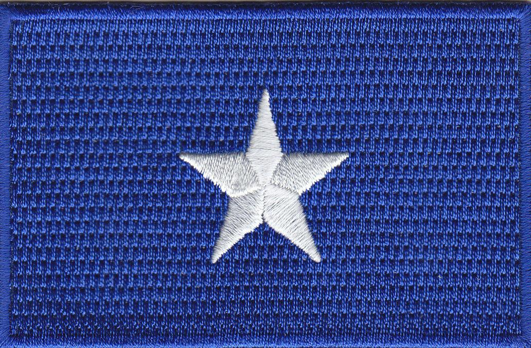 BONNIE BLUE STAR Iron On Flag Confederate Civil War