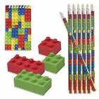 48 piece Building Block Party Favors; 12 Building Block Penc