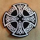 ☘️CELTIC CROSS Irish Pride Iron-on Patch-Goth/Emo/Black/