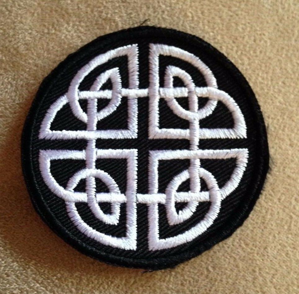 ☘️CELTIC KNOT Irish Pride Iron-on Patch! Goth/Emo/Black/