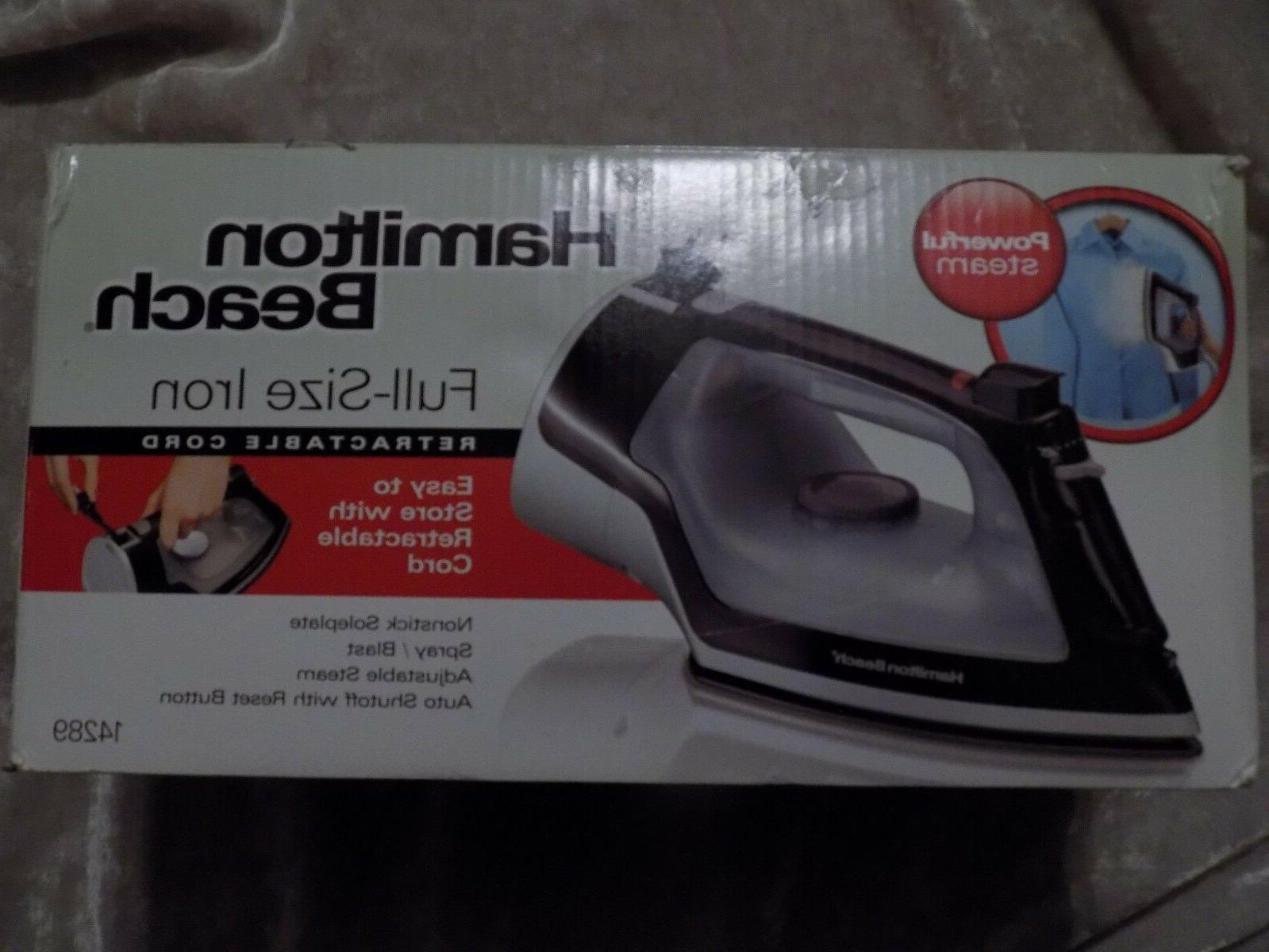 clothes iron full size retractable cord adjustable