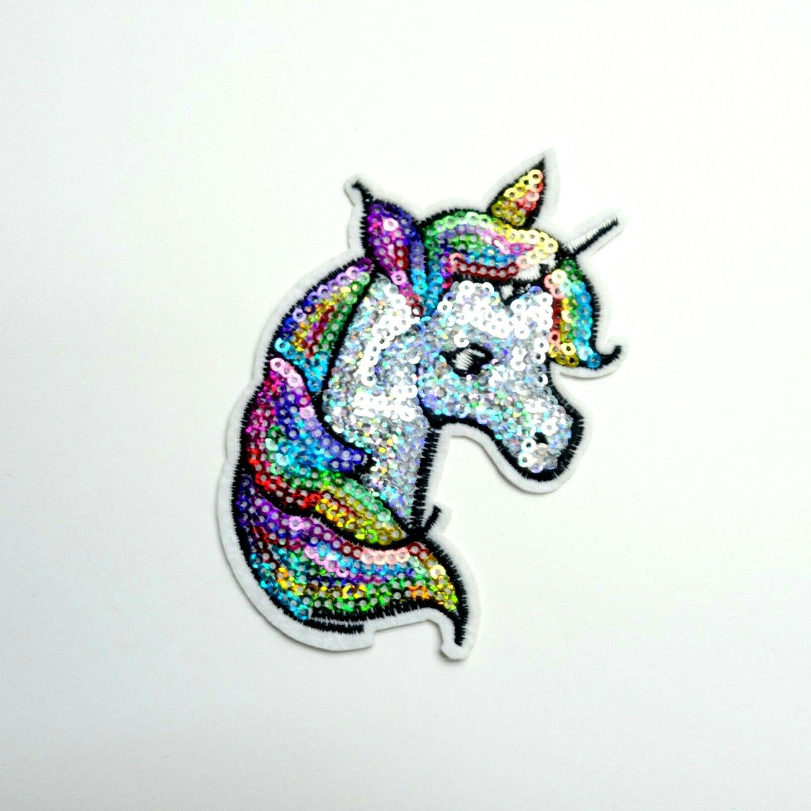 colorful sequin unicorn patch embroidered iron on
