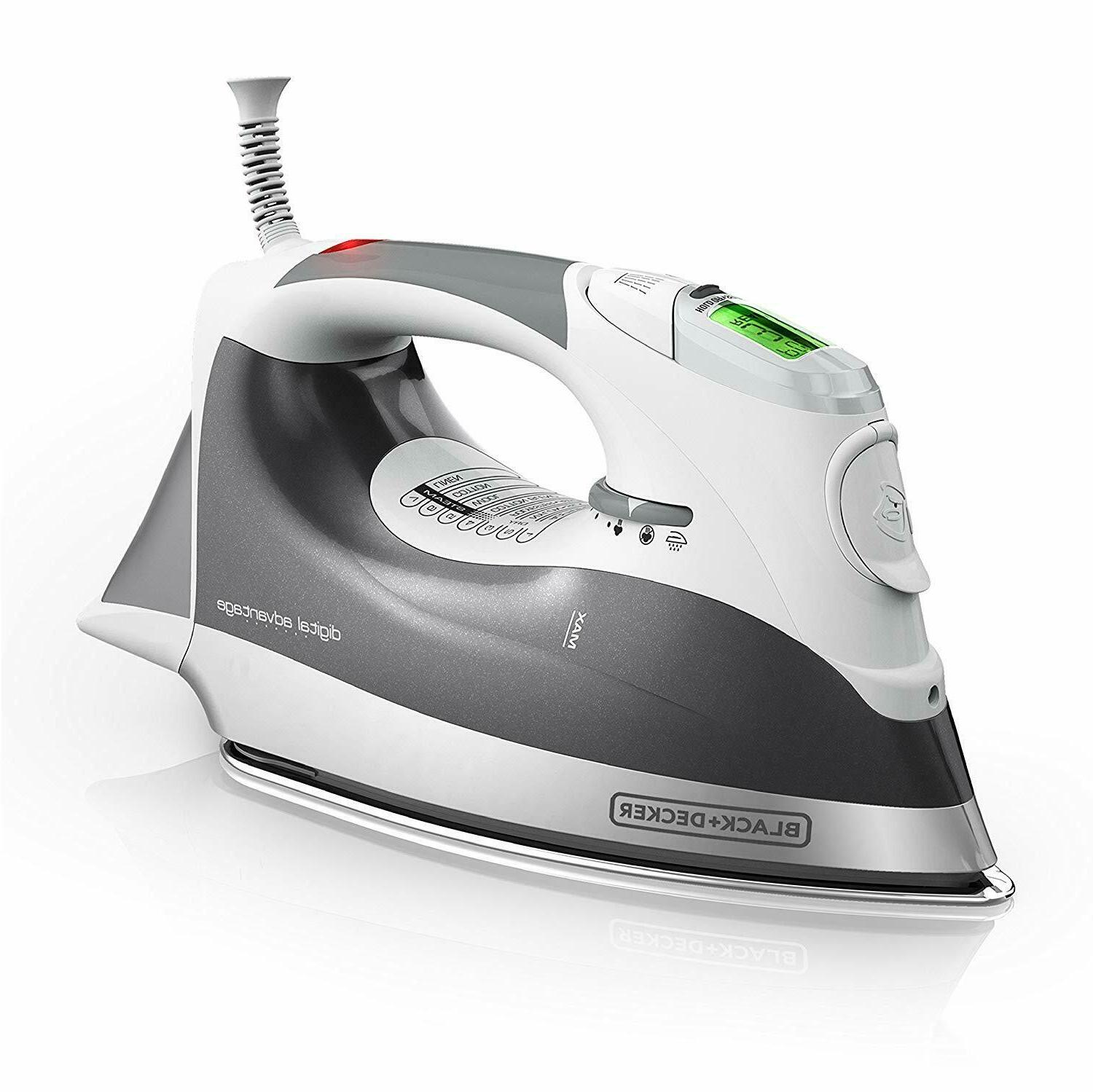 digital advantage professional steam iron lcd screen