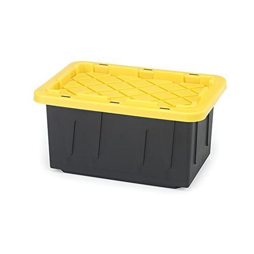 Durabilt by Homz - 15 Gallon Tough Tote, Black and Yellow W