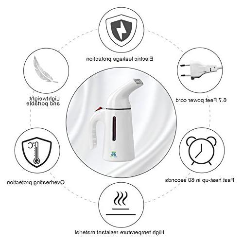 HogarTech Steamers 150ml Handheld Fabric Steamer Clothes Heat-up Travel Garment Automatic Safety and Heat Resistant