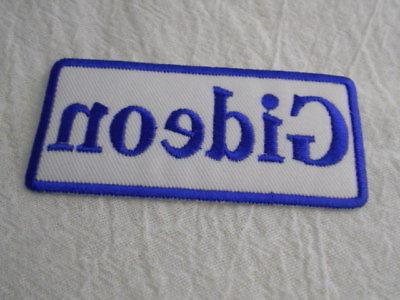 gideon new embroidered sew iron on name