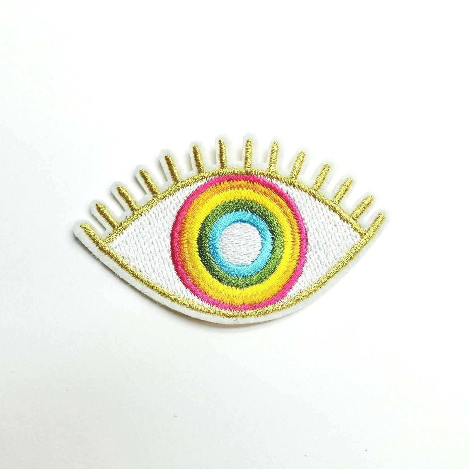 Gold Eye Hamsa, Iron-On/Sew-On