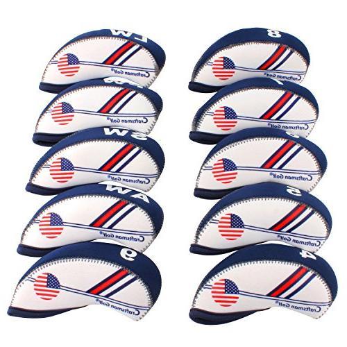 golf white blue us flag