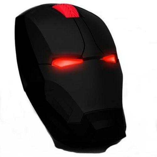 Marvel Comics Iron Man Wireless Game Mouse USB 2.4G 4D 1500