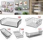 Iron Storage Bin Under Shelf Wire Rack Cabinet Basket Kitche