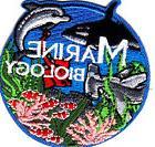 """MARINE BIOLOGY""  Iron On Patch Shark Dolphin Ocean Sea Crea"