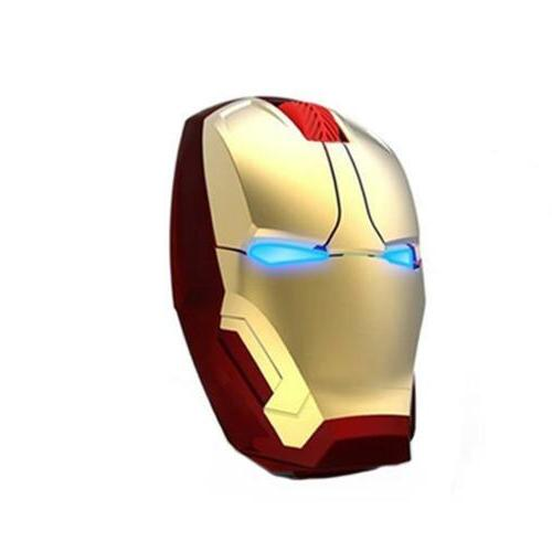 Iron Man Wireless Game Mouse Mice USB 2.4G 4D 1600 DPI For L