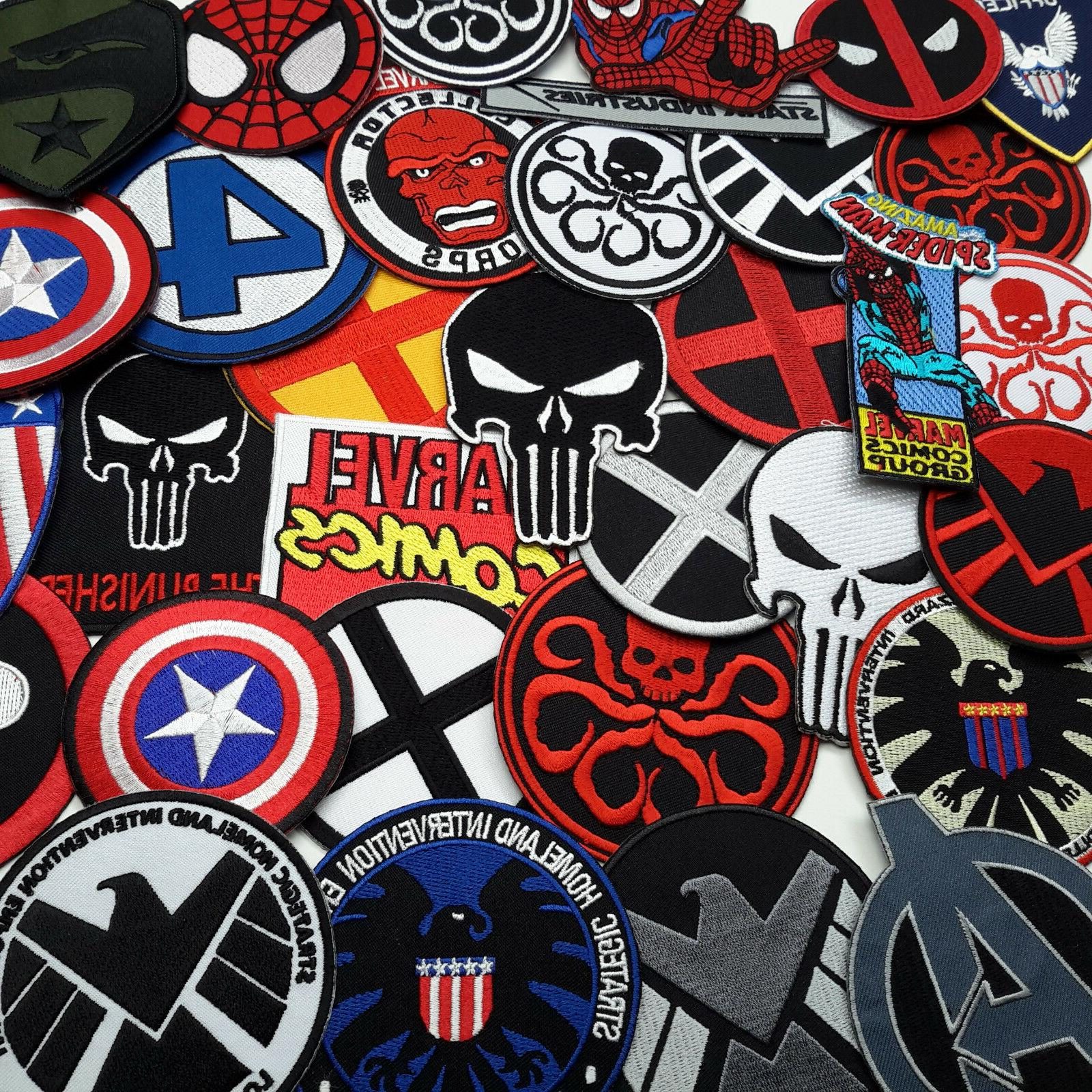 MARVEL - SHIELD, AVENGERS, X-MEN, IRON MAN Embroidered IRON-