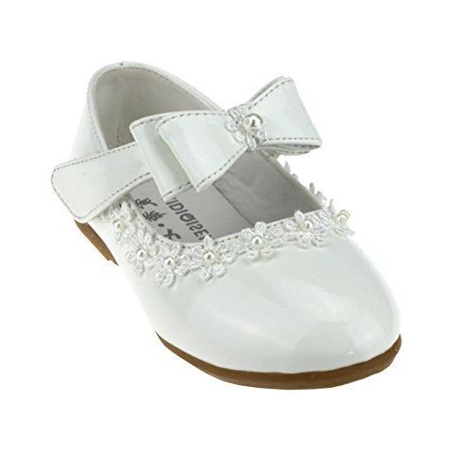 maxu kid girl pu dress shoe hook