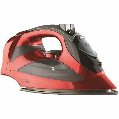 Brentwood MPI-59R Non-Stick Soleplate Steam Iron, Types Red