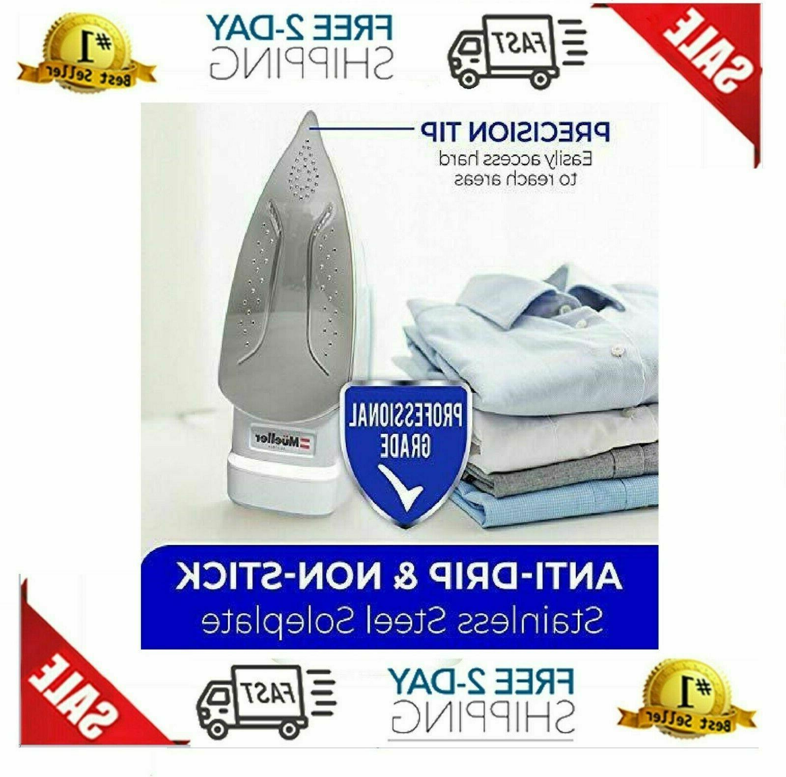 Mueller Professional Steam Iron, Retractable Cord for Easy