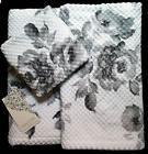 NEW ARTISAN ROSE FLOWER BATH HAND WASH 3 TOWELS SET COTTON G
