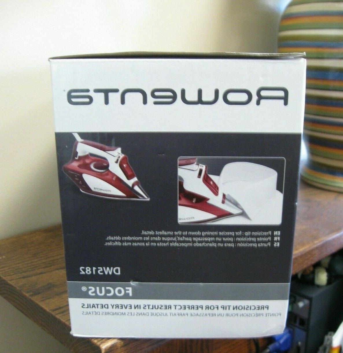 New! Rowenta Iron w Tip Red DW5182