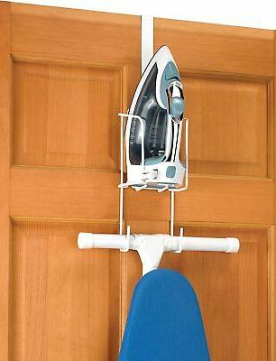 Over The Door Iron Caddy Ironing Board Holder Hanger Wall Mo
