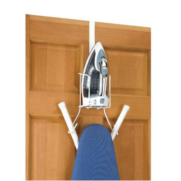 Over Caddy Ironing Board Hanger Wall Mount Apartment