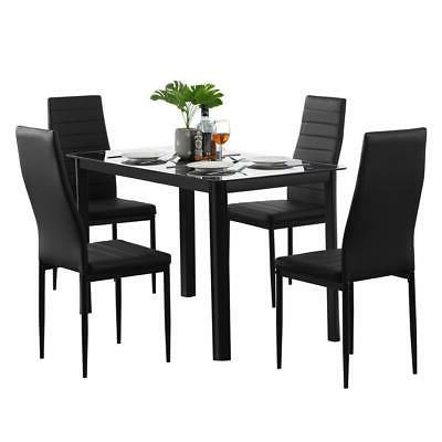 popular different style 5 piece dining table