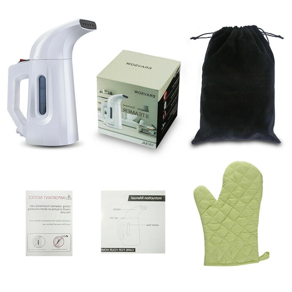 Portable Steamer Garment Iron Held White
