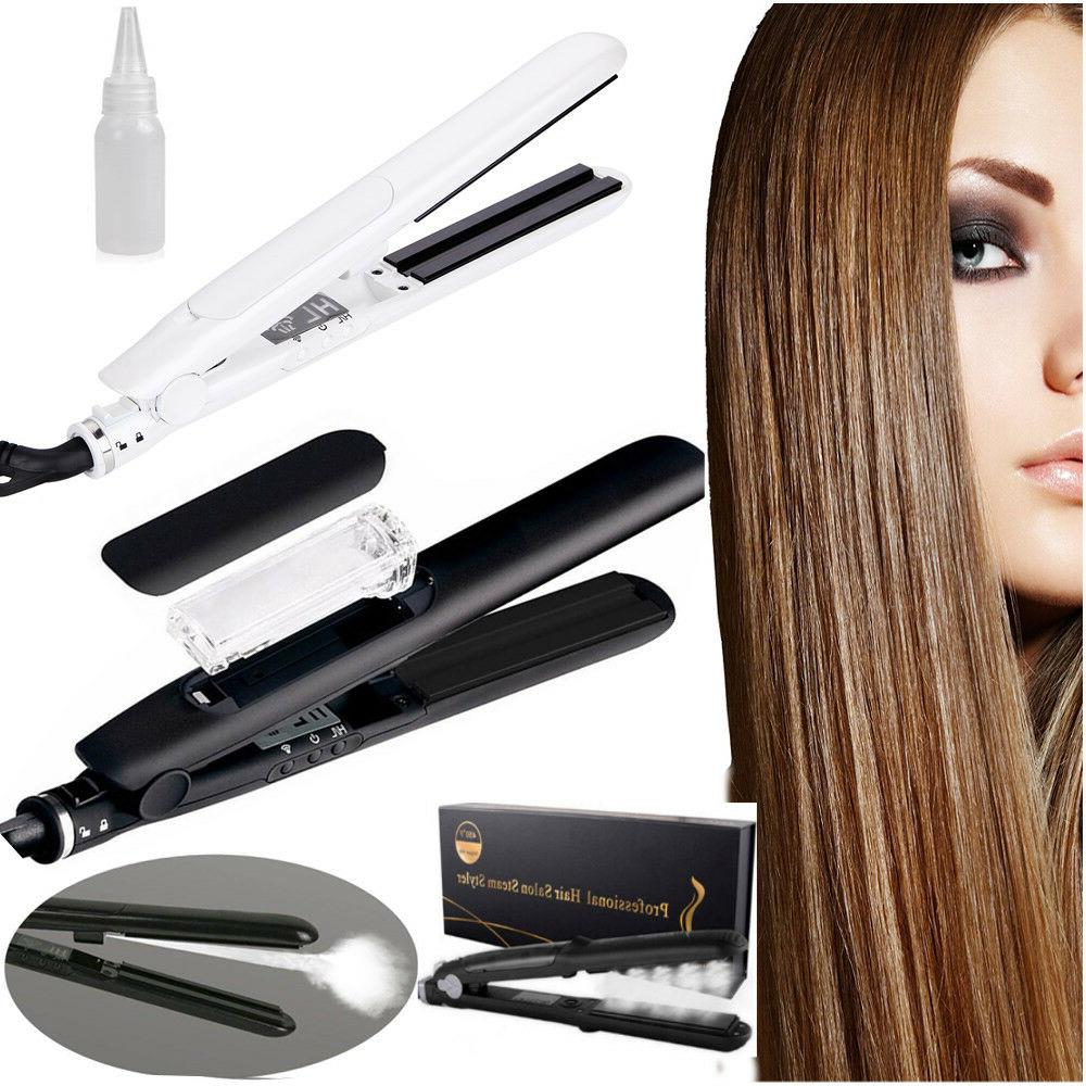 Professional Argan Oil Vapor Ceramic Flat Iron Steam Styler