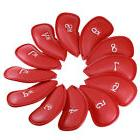 12x Red PU Leather Golf Iron Head Covers Club Putter Headcov