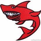 Red Shark Sea Fish Motorcycle Biker Punk Rocker Embroidered