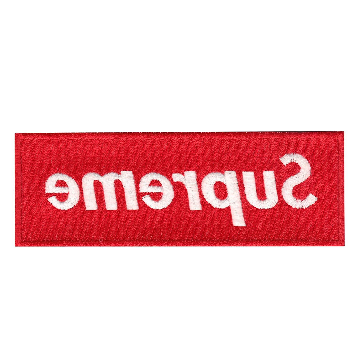 red supreme box logo diy iron on