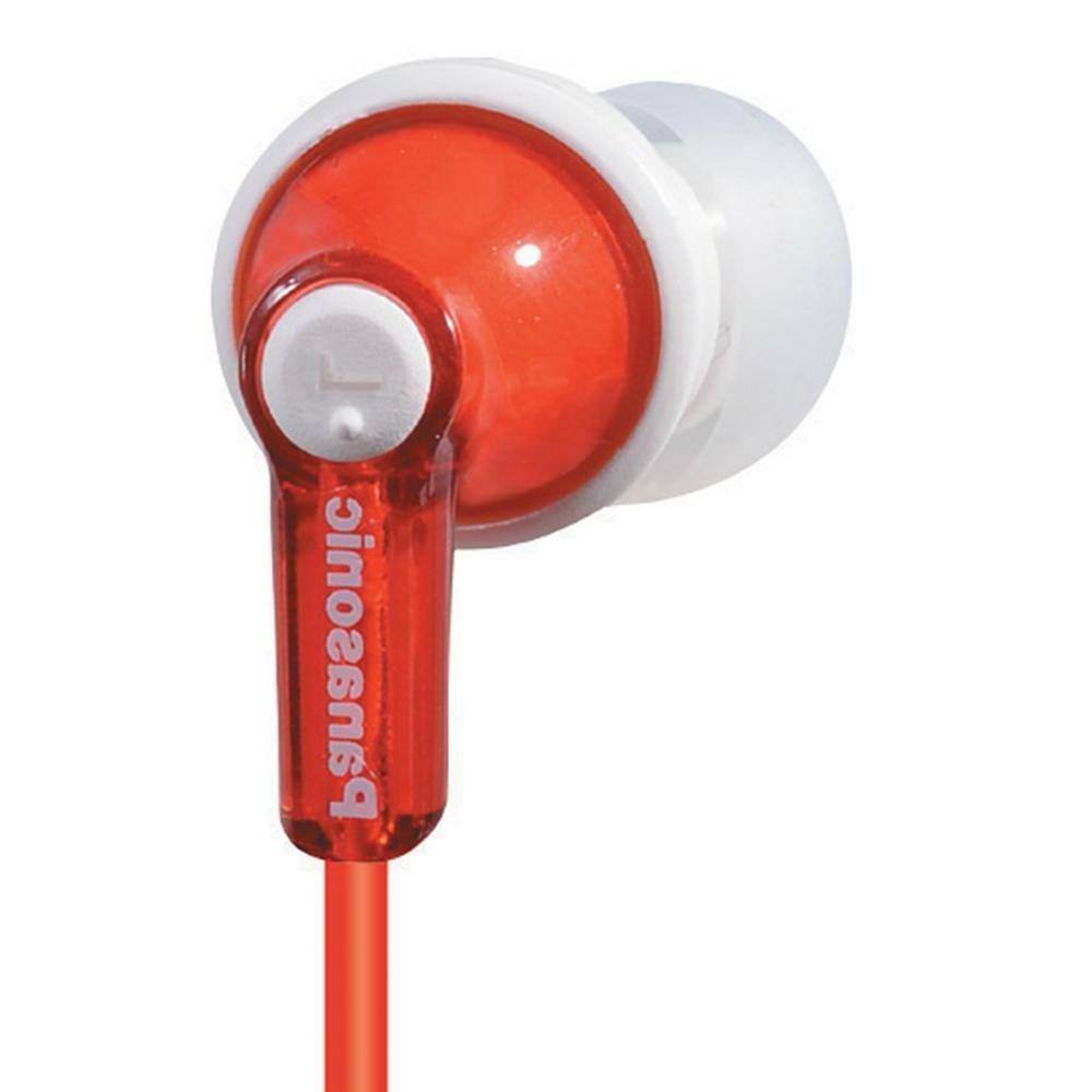 Panasonic RP-HJE120-R / RPHJE120R In-Ear Earbud Headphones,
